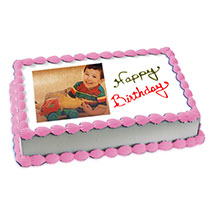 2kg Photo Cake Butterscotch Eggless