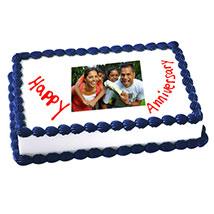 2kg Anniversary Photo Cake Eggless