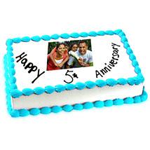 5th Anniversary Photo Cake Eggless 2kg