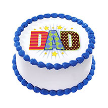 1kg Fathers Day Photo Cake