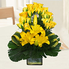 A Yellow Floral Gift
