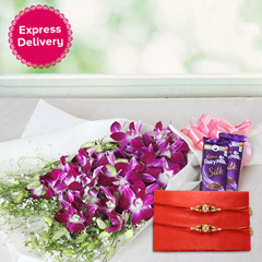 Flowery Rakhi Surprise