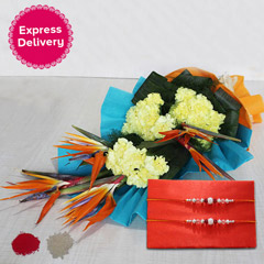 Designer Bouquet with Rakhi
