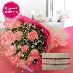 Pink Roses & Rakhis