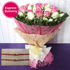 Bunch of Roses with Rakhi /></a></div><div class=