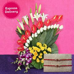Floral Rakhi Gift