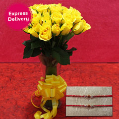 Yellow Rakhi hamper