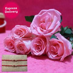 Pink N Bright Rakhi Delight