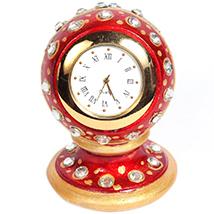 Marble minakari paper weight watch
