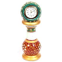 Minakari marble pillar watch