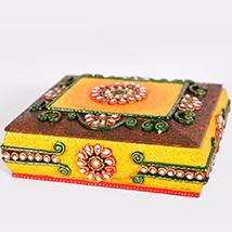 Designer minakari & beads Dry fruit box
