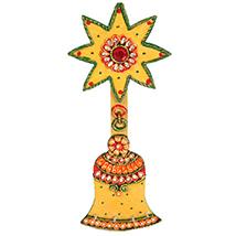 Kundan designer bell key stand