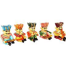 5 pieces wooden musician set