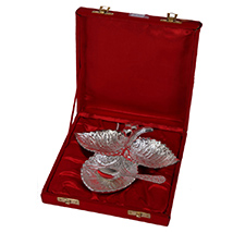 Triple leaf german silver tray