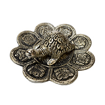 Oxidized Tortoise with Flower Shaped Plate