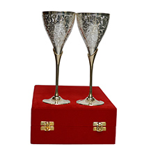 German Silver Wine Glass Set