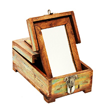 Antique Wooden Makeup Box