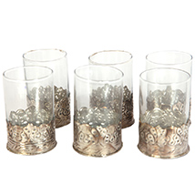 Oxidized 6 Piece Glass Set