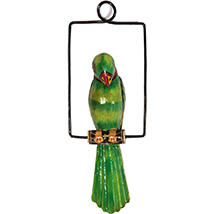 Decorative Metal & Iron Hanging Parrot