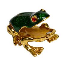 Vastu Friendly Decorative Frog Figurine in Metal