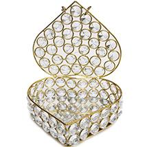 Designer Jewellery Box in Crystal & Metal