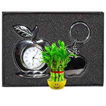 Exquisite Table Clock & Key Ring