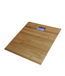 Primo Digital Personal Bathroom Weight Machine (Bamboo Platform) - Brown