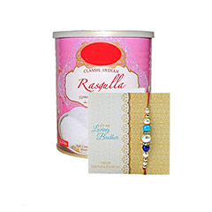 1kg Rasgulla With Rakhi Hamper /></a></div><div class=