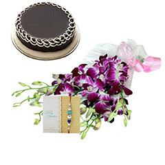 Rakhi Exotic Orchids n Cake