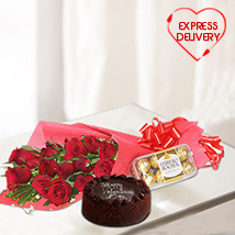Rosy & Chocolaty Gift Surprise