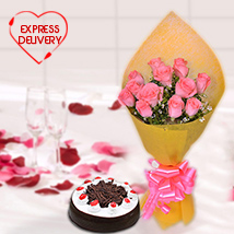 Pink Floral & Chocolaty Surprise
