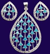 Drop Shape Sea Blue American Stone