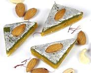 Sugar Free Kaju Kesar Pista Triangles(250 gms)