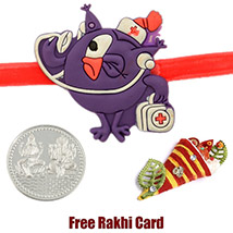 Smashing Kids Rakhi with a Free Silver Coin