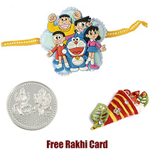 Doremon Group Rakhi with a Free Silver Coin /></a></div><div class=