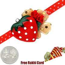 Red Heart Rakhi with a Free Silver Coin /></a></div><div class=