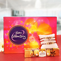 Rakhi with loads of Chocolaty Surprise