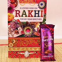 Heartfelt Rakhi with Chocolate