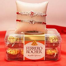 Divine Rakhi with a Box full of Chocolates /></a></div><div class=