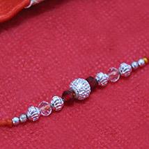 Aesthetic Silver Beads Rakhi /></a></div><div class=