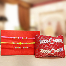 Blessed Set of Beautiful Rakhis /></a></div><div class=