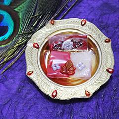 Dazzling Golden Rakhi Thali /></a></div><div class=