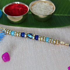 Beautiful Blue Rakhi