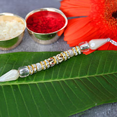 Silvery Pleasure rakhi