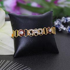 Stone Studded Bracelet Rakhi /></a></div><div class=