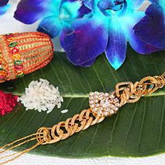Golden Bracelet Rakhi /></a></div><div class=
