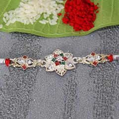 Flowery Silver Rakhi