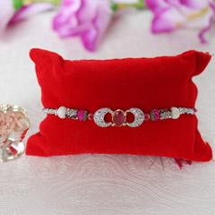Cute Pink Stone Rakhi