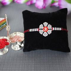 Floral Om Rakhi /></a></div><div class=