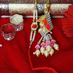 Sparkling Bhaiya Bhabhi Rakhi Set